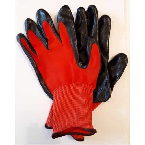 Перчатки нейлоновые с частичным нитриловым покрытием