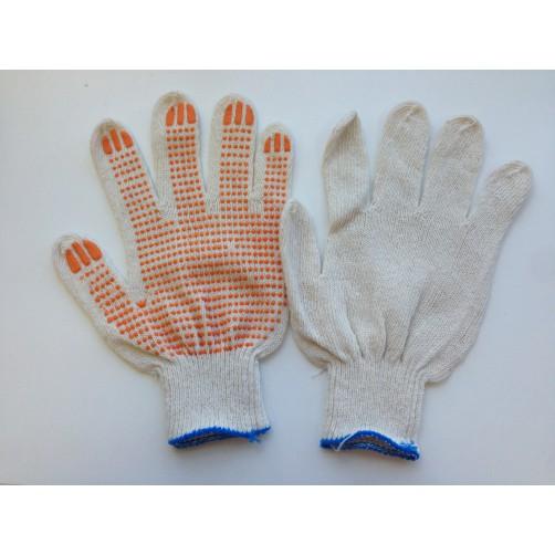 Перчатки хб Строитель с ПВХ