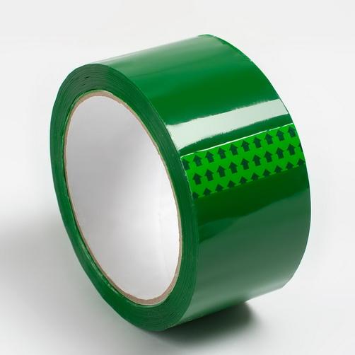 Клейкая лента, зеленая, 48 мм, 43 мкм, 130 пм